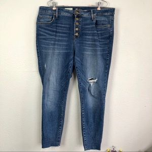 Kut from the Kloth  High Rise Button Fly Skinny
